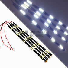 "4x White 12"" LED Strip 15 SMD Car Footwell Under Dash Accent Light Waterproof"