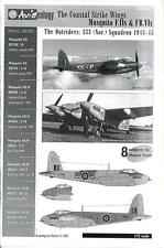 Aviaeology Decals 1/72 THE COASTAL STRIKE WINGS CANADIAN MOSQUITO F.II & FB.VI