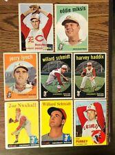 8 CARD LOT 1957-58-59-63 TOPPS CINCINNATI REDLEGS
