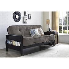 Convertible Futon Sofa Bed Couch Full Size Mattress Living Room Furniture Gray