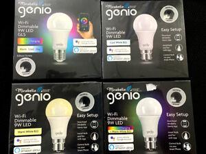 Mirabella GENIO Wi-Fi Dimmable 9W LED Bulbs - 4 options