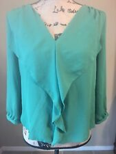 Anthropologie Maeve Top Blouse Size 2 Small Green