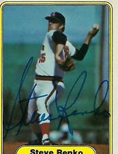 STEVE RENKO SIGNED 1982 FLEER #472 - CALIFORNIA ANGELS