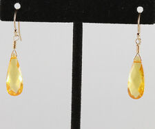 Greenwood Designs Cubic Zirconia 14k gf Gold French Hook Earrings