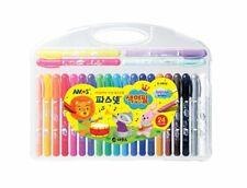Pasnet Color Pencil 24 Colors AMOS Premium Non-toxic Silky Twisters Crayon