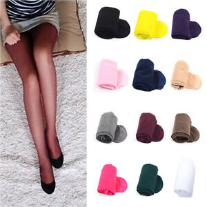 Women Colorful 20D Sheer Transparent Tights Slim Pantyhose Stockings Hosiery