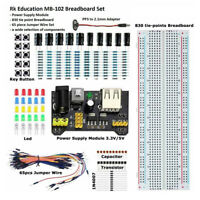 LT_ EG_ MB102 Breadboard Capacitor LED Resistor Electronic Component Kit Set W