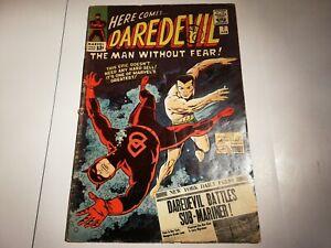 RARE KEY DAREDEVIL #7 SILVER AGE MARVEL COMICS 1965 1st appearance RED COSTUME