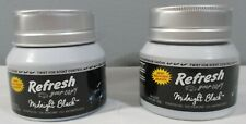 2 New Refresh your Car Black Midnight Scented Gel Air Freshener Jars truck home