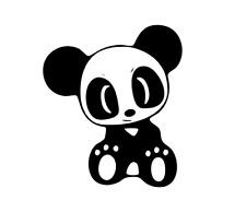 Cute Panda Puppy Eyes, Car, Camper, Van, Caravan, Wall, Decal, Sticker.