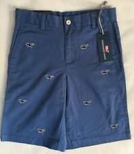 VINEYARD VINES Boys Candy Cane Whale  Breaker Shorts Christmas $59 NWT SIZE 16