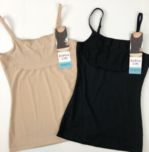 2 Assets Spanx Thintuition Shaping Cami Tanks Size Small Stretch 10229R Thin F17
