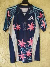 Maillot rugby Stade Français Paris SF bleu away 2008 ADIDAS vintage shirt M