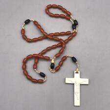 Vintage Brown & Black Plastic Rosary Beads