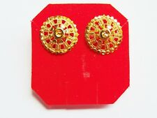Indian Stud Earring Gold Plated Earrings Small Tops Ethnic Women Fashion Jewelry