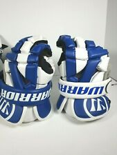 """Warrior Riot Lacrosse Gloves 13"""" Blue Vaportek"""