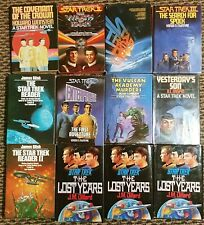 Lot of 12 Hardcover Star Trek Books - Great Condition