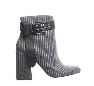 Shellys London Womens Gabi Grey Pinstripe Fashion Boots Size 7.5 (1830853)