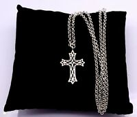 Vintage Sterling silver Cross pendant necklace