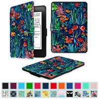 For Amazon Kindle Paperwhite Case PU Leather SlimShell with Auto Sleep/Wake