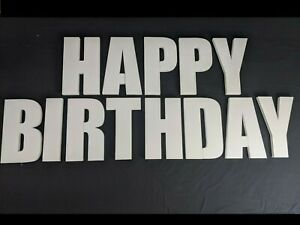HAPPY BIRTHDAY Polystyrene Decorative Letters - 380mm high - 25mm thick