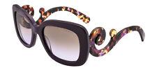 RARE Genuine PRADA Square Baroque Plum Violet Sunglasses SPR 27O ROM 6P1 PR 27OS