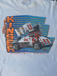 SPRINT CAR -  STEVE KINSER -  1991 VINTAGE T-SHIRT - LARGE