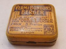 Box Metal Vermi Sweets Shepherd Worming Deroux Pharmacist Lyon Antique