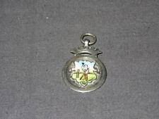 Vintage 1920 Sterling Silver & Enamel Cricket Medal - Warrington Cricket Club