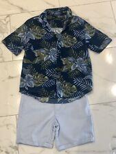 Boys River Island Chino Shorts & Matching Next Shirt 7-8 Years Summer Set