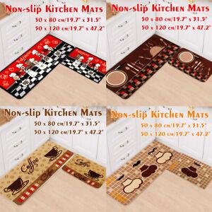Non-Slip Home Kitchen Floor Mat Machine Washable Rug Door Runner Hallway Carpet