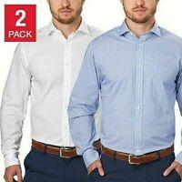 SALE Tommy Hilfiger Men's Regular Fit Dress Shirt 2-Pack VARIETY SIZE/COLOR C23