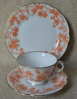Rosenthal Porzellan Sammelgedeck Sammeltasse mit Blumendekor orange Goldrand