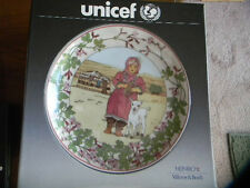 "Unicef Collectors Plate ""Our Children, Afghanistan"" Villeroy  Germany NIB"