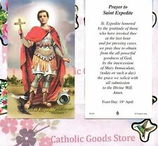 Saint St. Expedite with Prayer to St Expedite  - Paperstock Holy Card