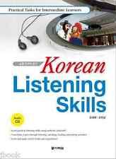 Korean Listening Skills with CD Practical Tasks Intermediate Level Study Learn