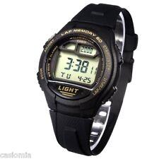 Casio W734-9A Mens Black Digital Led Sports Watch w/ LAP MEMORY 5 Alarms