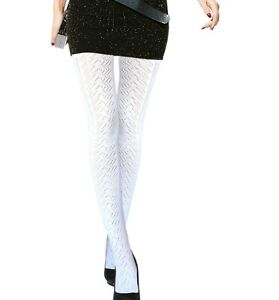 Ladies white tights women's patterned tights women cotton white tights