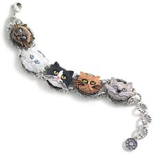 NEW SWEET ROMANCE CAT LOVERS BRACELET ~HAND-PAINTED ~~MADE IN USA ~~