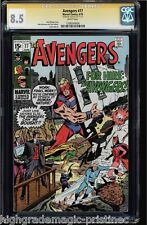 AVENGERS #77 1970, CGC 8.5 WHITE PAGES SS STAN LEE SIGNED CGC#1206549004