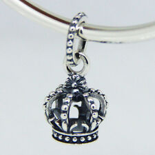 DANGLE CROWN .925 Sterling Silver European Charm Bead Q2