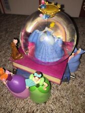 Disney Cinderella Musical Snowglobe Story Books Step Sisters Fairy Godmother