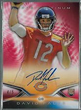 2014 Topps Platinum Red Refractor David Fales On Card Auto Rc # 4/5 VERY RARE