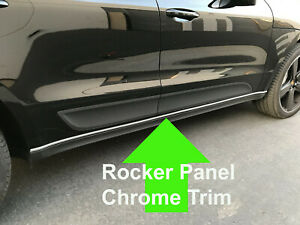 FOR CADILLAC ROCKER PANEL Body Side Molding CHROME Trim 2pc - 2000-2018