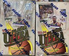2x Lot 1993-94 Fleer Ultra Series 1 Basketball Factory Sealed Hobby Box (Jordan)