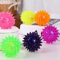 Flashing Light Up Spikey High Bouncing Ball Novelty Sensory Hedgehog Balls Toy !