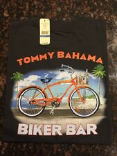 TOMMY BAHAMA RELAX TEE NEW BLACK-LARGE Biker Bar
