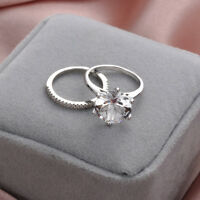 Luxury Catalina And Amelie  Diamond Ring Wedding Engagement Band 18k White Gold