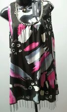 DRESSED BY THREADZ Size M 12 Sleeveless Top Multicolor  NWT RRP $80.95