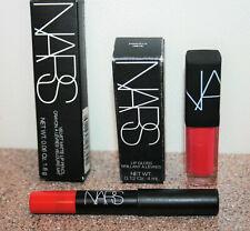 NARS Priscilla Lip Gloss .12 oz Velvet Lip Pencil Let's Go Crazy .06 travel size